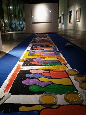 azione pittura collettiva festa via cavour 30 novembre (1)